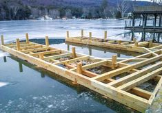 We have the experience, the knowledge, and the equipment to build a new or repair your existing crib dock or boathouse foundation. Building A Dock, Lakefront Property, Outdoor Stairs, Canal Boat, Boat Dock, Outdoor Furniture Sets, Outdoor Decor, Rustic Design, Cribs