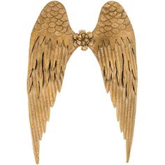 Gold Angel Wings Metal Wall Decor (2.675 RUB) ❤ liked on Polyvore featuring home, home decor, wings, accessories, decor, gold home decor, gold home accessories and metal home decor