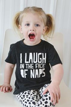 I+Laugh+in+The+Face+Of+Naps!+    For+the+little+in+your+life+who+is+WAY+too+busy+for+a+nap!+    Our+Vintage+Inspired+Tri-Blend+Tees+are+super+soft+and+flexible!+The+most+comfortable+tee+ever!+(We+think)    Our+Tri-Blend+tees+are+50%+Polyester+/+25%+Cotton+/+25%+Rayon    Polyester+retains+shape+an...