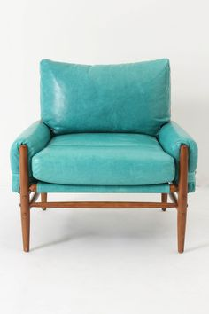Rhys Chair, Caribbean Blue ~ Anthropologie. Love aqua color