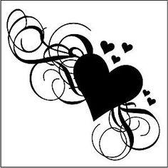 decopodge Glass Etching Stencil Sheet 6 x 6 Hearts Scrolls Silhouette Vinyl, Silhouette Portrait, Silhouette Cameo Projects, Silhouette Design, Quilling Patterns, Stencil Patterns, Stencil Designs, Silhouettes, Borboleta Tattoo