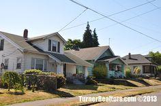 Charming homes line the streets of St Johns in Portland, Oregon. Portland Neighborhoods, Columbia River, Portland Oregon, Small Towns, The Neighbourhood, University, Cabin, Homes, Park