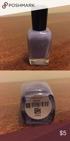 Zoya nail polish Aster color, lavender with sparkle. Never opened. Zoya Makeup