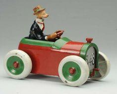 Cast Iron Deluxe Version Arcade Andy Gump Car...