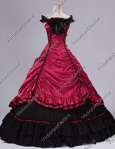 Victorian Southern Belle Ball Gown Period Prom Dress Reenactment Clothing Theatre