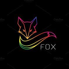 Vector image of an fox design  @creativework247