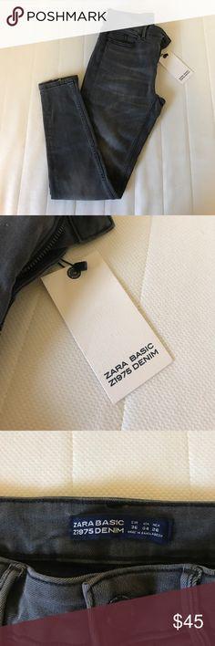 ZARA Grey Wash Jeggings EU36 US4 ZARA Jeggings US4 unworn, like new, with tags Zara Jeans Skinny
