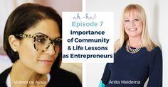 Violette de Ayala, Founder of FemCity, Speaker, Entrepreneur joined fellow Fem Anita Heidema on her podcast: Ah-Ha Moments for Success. Entrepreneur, Success, In This Moment