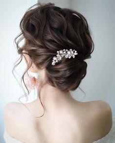 Bridal Hair Vine, Bridal Comb, Wedding Hair Pieces, Wedding Stuff, Wedding Ideas, Wedding Hair Accessories, Hair Comb, Beautiful, Gorgeous Hair