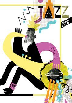 Musician Photography, Soul Jazz, Jazz Art, Music Illustration, Music Images, Jazz Musicians, Jazz Blues, Illustrations And Posters, Visual Communication