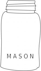 Mason Jar Free Embroidery Pattern - KitsKorner.Com