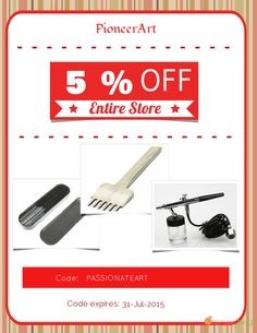 Get 5% OFF our Entire Store now! Enter Coupon Code: PASSIONATEART Restrictions: Min purchase: USD 50.00, Expiry: 31-July-2015. Click here to avail coupon: https://orangetwig.com/shops/AABBTao/campaigns/AABBWHq?cb=2015007&sn=PioneerArt&ch=pin&crid=AABBWIH