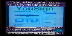 Sign online the petition against Closing Romanian TV station OTV, the only television that tells the truth and is not subordinated mafia government of Romania. How is it possible that Romania of 2013 forming part of the European Union a TV station to be closed. This is a violation of the human right to freedom of information and freedom of expression. Please share with your friends and help us to reopen OTV television channel. Thank You