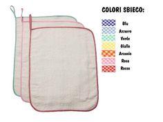 Set asilo 3 Asciugamani con asola di 8 cm per appendere (43 x 54cm). Lo trovi qui: http://www.coccobaby.com/prodotto/set-asilo/set-completi-risparmio/784/set-3-asciugamani-bianco
