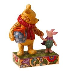 Jim Shore Disney Traditions: Storybook Characters - Winnie the Pooh and Piglet Winnie The Pooh Friends, Disney Winnie The Pooh, Disney Figurines, Collectible Figurines, Disney Statues, Wooden Figurines, Jean Christophe, Storybook Characters, Disney Characters