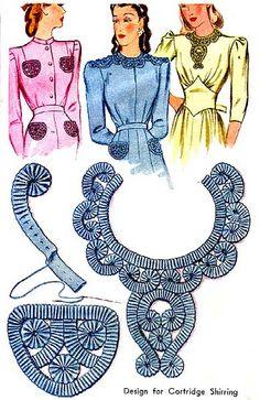 Design for Cartridge Shirring - 1940