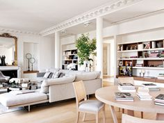 When homeowners invite guests and company into their home typically the first thing that visitors see is the living room, or family room, of the house. Living Room Remodel, Living Room Sofa, Living Room Decor, Living Spaces, Parisian Apartment, Paris Apartments, Paris Apartment Decor, French Apartment, Dream Apartment