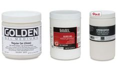 HELPFUL! Links to a great explanation of ACRYLIC MEDIUMS and what/how to use them.