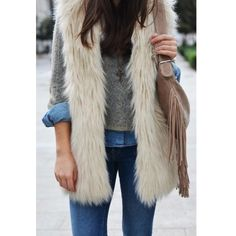 TOPSHOP faux fur vest in white cream new with tags US sz 6. Not your average faux fur-- feels very good and not plasticky.