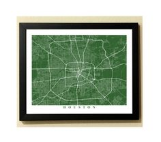 Houston Streets Map Art  City Collection by TheMapCollection