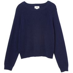 Monki Clare knitted top (145 CNY) ❤ liked on Polyvore featuring tops, sweaters, shirts, jumpers, sea shadow blue, blue sweater, blue jumper, blue top, blue shirt and monki