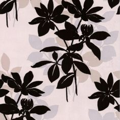 Undergrowth Natural Paste the Wall Wallpaper in Black and Cream with a Velvet finish by Laurence Llewelyn-Bowen for Graham & Brown