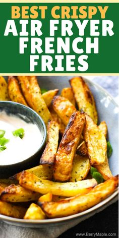 Lovely homemade air fryer french fries, that you can make from fresh or frozen p. - Lovely homemade air fryer french fries, that you can make from fresh or frozen potatoes! Crunchy, e - Air Fryer Recipes Potatoes, Air Fryer Oven Recipes, Air Frier Recipes, Air Fryer Dinner Recipes, Potato Recipes, Air Fryer Baked Potato, Air Fryer Fries, Air Fryer French Fries, Avocado Toast
