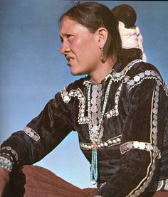 Traditional Navajo coin blouse