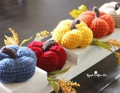 Harvest Crochet Pumpkins | Free Pattern | Repeat Crafter Me
