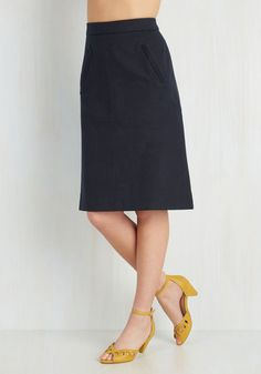 Aptitude for Anthropology Skirt in Navy From the Plus Size Fashion Community at www.VintageandCurvy.com