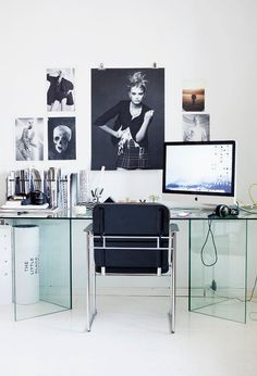 home office :: glass desk :: Scandinavian Style
