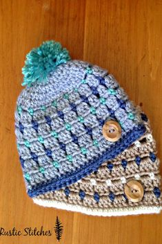 Crochet Pattern: Adorable Block Stitch Newborn Hat With Endless Possibilities