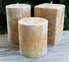 Made from 100% natural palm wax - scented in Banana Nut Bread and available in several different sizes.