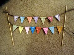 Free printable Happy Birthday Mini Bunting