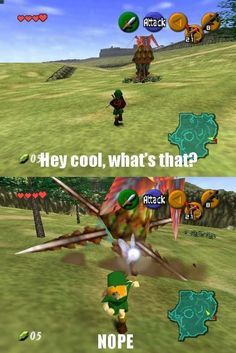 Legend of Zelda: Ocarina of Time. I was terrified to approach these things as a kid... I avoided them like the plague.