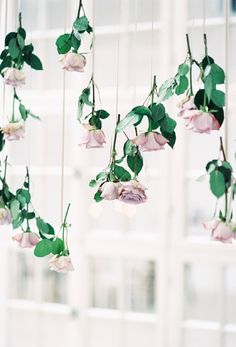 Hanging Rose Wedding Decor | Heike Moellers Photography on @blovedblog via @aislesociety
