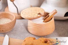Cukiernica drewniana z łyżeczką Liść, Practic