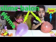 slime balon şişirme challenge-slime balloon blowing