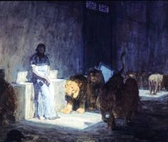 Daniel in the Lion Den - Henry Ossawa Tanner  canvasreplicas.com