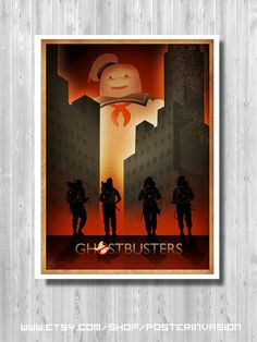 Ghostbusters Stay Puft, Ghostbusters Poster, Movie Art, Ghostbusters print, Ghostbuster Retro, Art Prints, Minimalist Ghostbusters, Gift for him