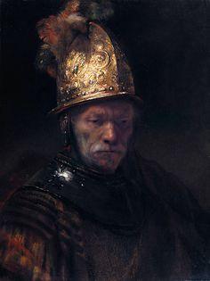 """school of Rembrandt  """"The Man with the Golden Helmet""""  ca. 1650"""