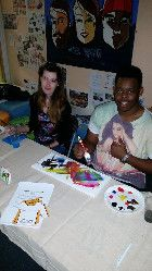 September, 2015 - UK based De Montford Students Union, where students were encouraged to attend for 5 minutes worth of microvolunteering creating artwork to promote the work of a local charity, Action Homeless. Image obtained via Twitter. Students' Union, Photo Record, Non Profit, Charity, Encouragement, September, Action, Events, Activities