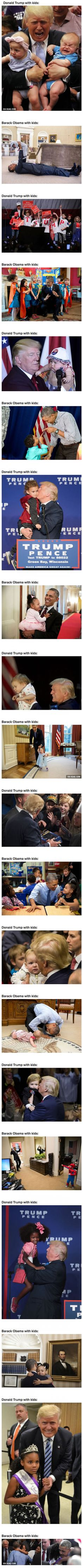 Trump With Kids Vs ObamaWith Kids