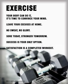 "Motivate yourself with Exercise Weight Set Poster Print. ""Leave your excuses at home,"" and ""No sweat, no glory,"" are some inspirational quotes that will push you to work out!"