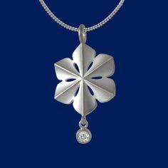 SnowQueen, snowflake, pendant, necklace, silver.