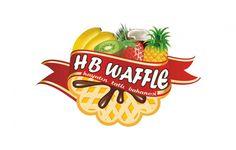 Hb Waffle logo design