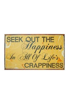 Metal Sign - Happiness on HauteLook