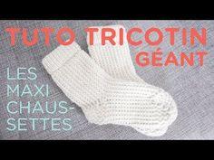 Tuto tricotin circulaire pour faire de grosses chaussettes !