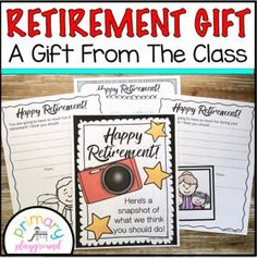 Retirement Gift by Primary Playground | Teachers Pay Teachers