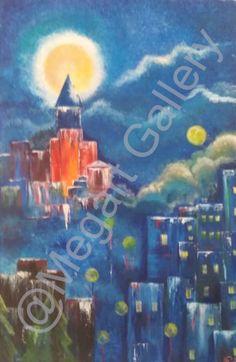 ΚΑΛΛΙΤΕΧΝΗΣ: ΡΗΓΑΤΟΥ ΜΑΡΙΑ ΔΙΑΣΤΑΣΕΙΣ: 60X80CM ΥΛΙΚΟ: ΑΚΡΥΛΙΚΑ TIMH:800,00 € Blue Artwork, Shades Of Blue, Painting, Painting Art, Paintings, Painted Canvas, Drawings
